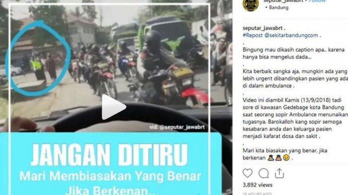 Viral Video Ambulans Bawa Pasien Teradang Rombongan Polisi di Bandung, Ini Penjelasan Polda Jabar