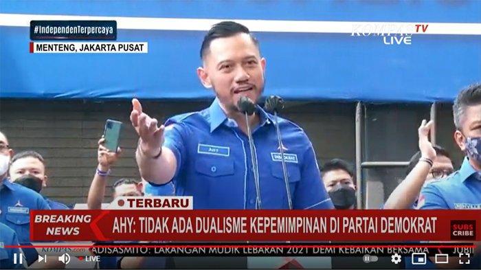 Pemerintah Tolak Kubu Moeldoko, AHY : Tidak Ada Dualisme di Tubuh Partai Demokrat