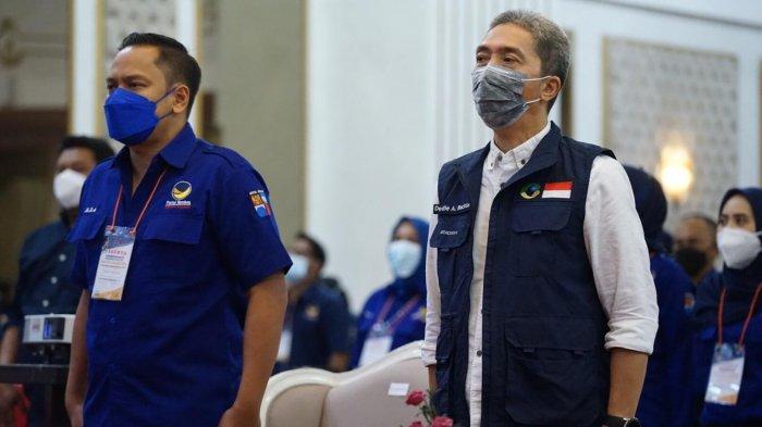 Wakil Wali Kota Bogor, Dedie A Rachim menghadiri kaderisasi dan pendidikan politik Partai NasDem, dalam rangka reses anggota DPR-RI di Hotel Grand Savero, Bogor, Sabtu (24/4/2021).