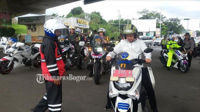 Libur Natal, Wali Kota Bogor Patroli Dengan Menggunakan Motor