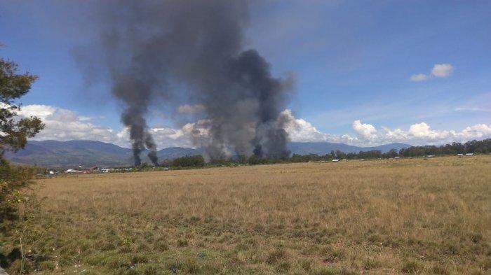 Lagi, Aksi Demo di Papua Rusuh, Gedung dan Rumah Warga di Wamena Dibakar Massa