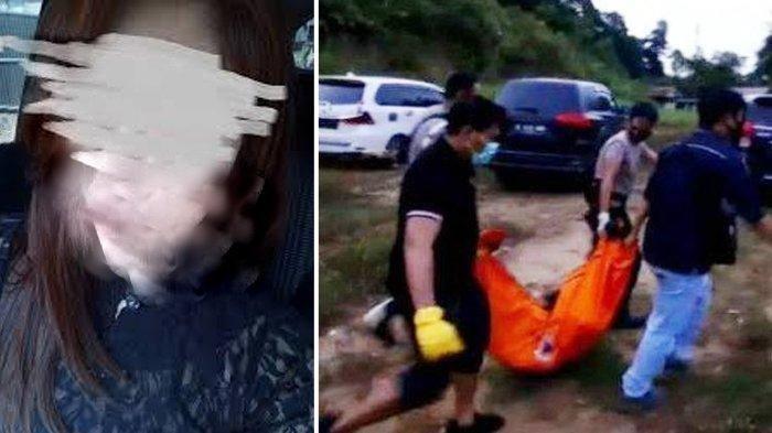 Foto wanita cantik yang ditemukan tewas dan foto Tim gabungan mengevakuasi jasad wanita tersebut.