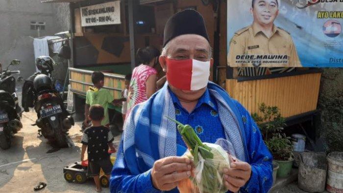 Polisi Bagikan Sayur ke Warga Bojonggede yang Pakai Masker, Ini Respon Pak RW