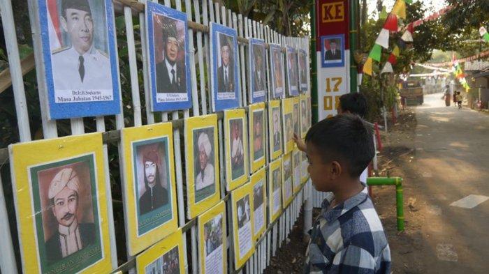 Ramaikan Perayaan HUT RI, Warga Rumpin Bogor Pasang Foto-Foto Pahlawan di Pinggir Jalan