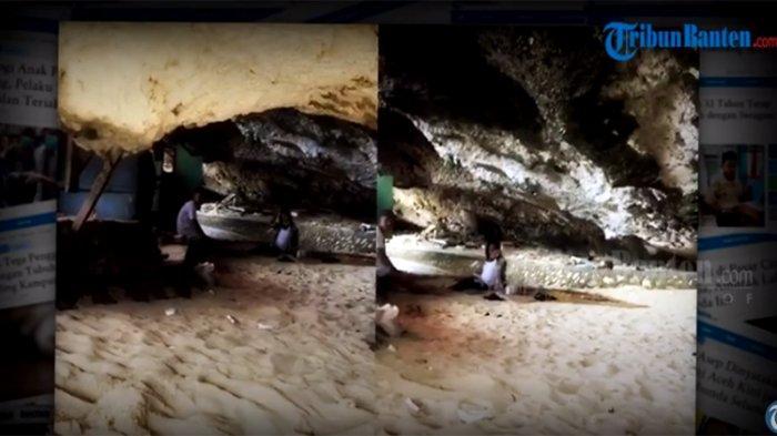 Viral Video Warung Makan di Dalam Batu Karang, Wisatawan Harus Jalan Merangkak