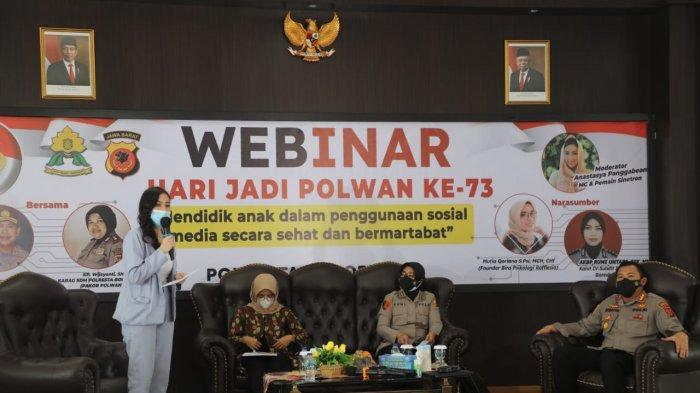 Hari Jadi Polwan, Polresta Bogor Kota Adakan Webinar Mendidik Anak dalam Penggunaan Medsos