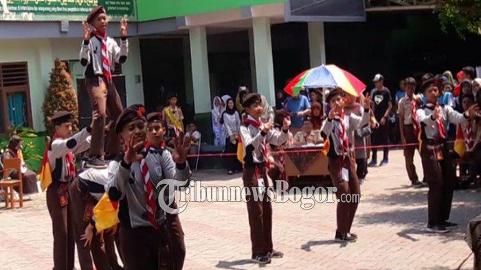 Kemeriahan Lomba Pramuka MAN 1 Kota Bogor, Tarian dan Lagu Viral Dipakai Peserta dalam Semapur