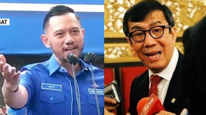Dituding Bela Moeldoko, Yasonna Laoly Dongkol Pada Demokrat Kubu AHY : Tidak seperti Orang Dewasa