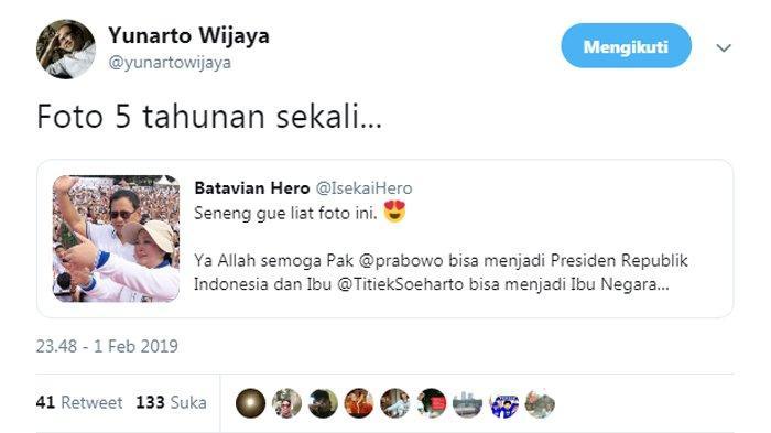 Yunarto Wijaya menyindiri foto selfie Prabowo Subianto dan Titiek Soeharto