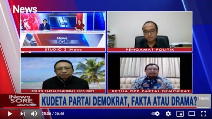 Yunarto Wijaya Sebut Gerakan Kudeta AHY Hanya Gosip, Herman Khaeron Bantah : Bukti dan Fakta Kuat