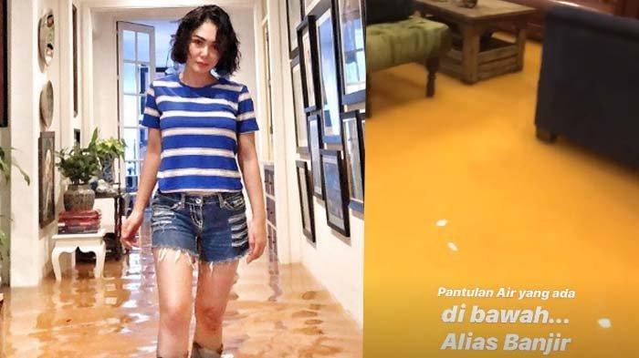 Tanggapi Fotonya yang Viral saat Banjir Jakarta, Yuni Shara : Padahal Dalam Kondisi Tidak Siap