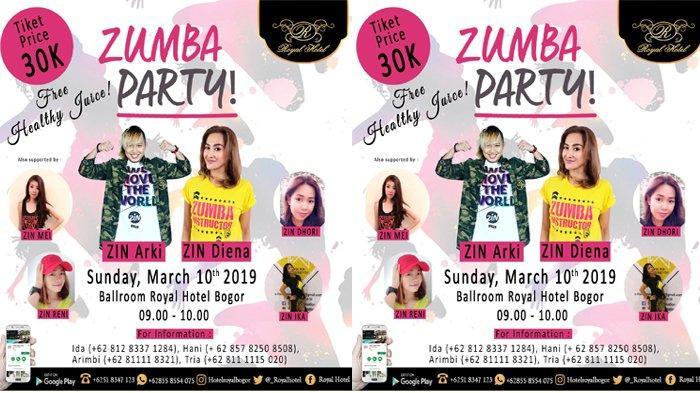 Zumba Party di Royal Hotel, Dipandu Instruktur Terbaik Kota Bogor
