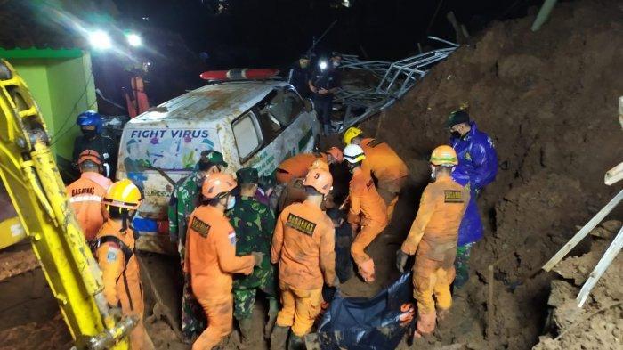 Korban Meninggal Dunia Akibat Tertimbun Longsor di Cimanggung Sumedang Bertambah Menjadi 13 Orang
