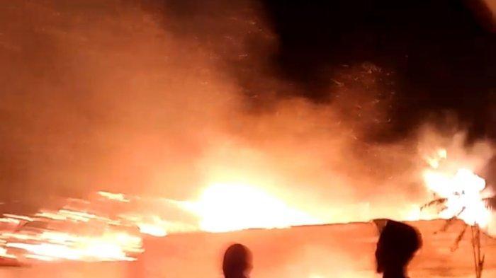 Sedih 4 Rumah Warga di Wanayasa Purwakarta Hangus Terbakar di Malam Takbiran