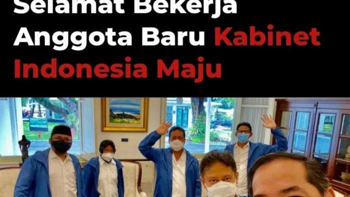 Nama-nama Menteri Baru Kabinet Indonesia Maju Jokowi - Maruf Amin, Ada Sandiaga Uno, Tri Rismaharini