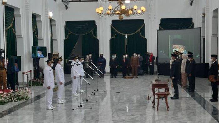Bupati dan Wabup Tasikmalaya Periode 2021-2026 Dilantik, Ridwan Kamil: Jangan Jadi Pemimpin Kantoran