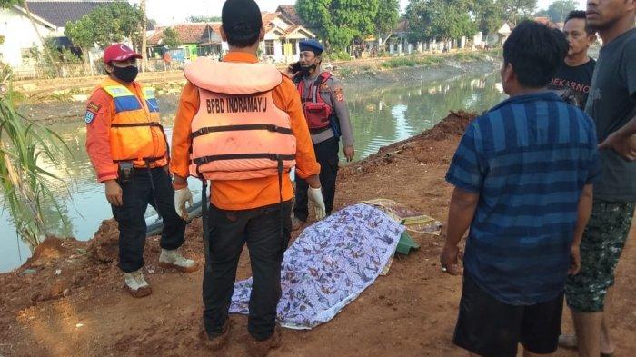 Pria Paruh Baya yang Terpeleset Saat BAB di Sungai Cipelang Indramayu Ditemukan Tak Bernyawa