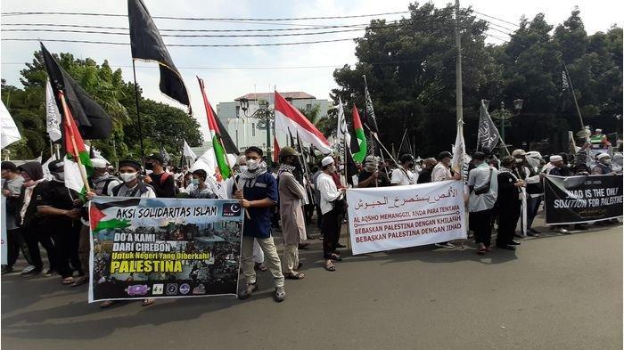 Warga Ciayumajakuning Turun ke Jalan Ikut Aksi Damai Bela Palestina, Tuntut Ini pada Pemerintah