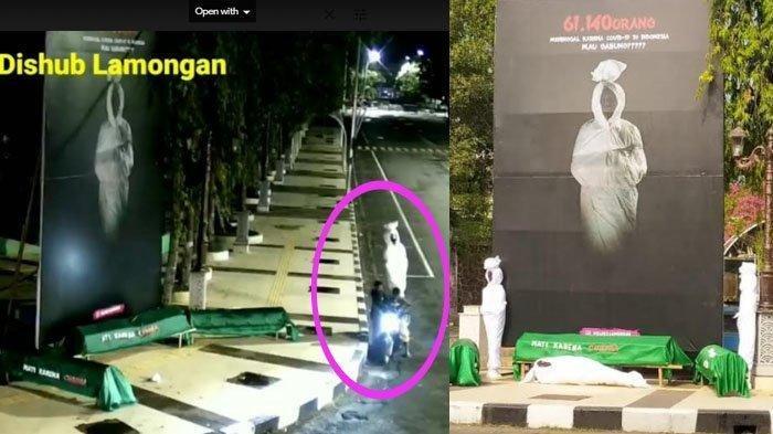 Bukan Curi Uang, Maling di Lamongan Malah Bawa Kabur Tiga Pocong, Aksi Pelaku Terekam CCTV