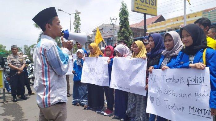 Aktivis PMII Tasikmalaya Gelar Aksi Solidaritas untuk Randi Mahasiswa UHO yang Tewas Saat Demo