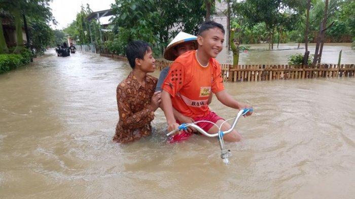 BPBD Indramayu Catat Ada  4 Desa di 4 Kecamatan Terdampak Banjir Akibat Hujan Deras Kemarin