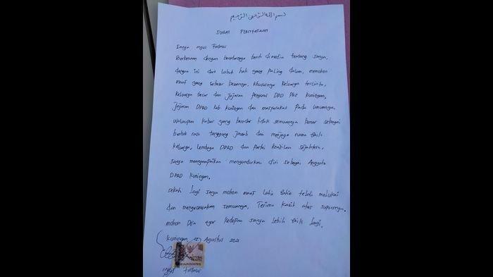 Delagasi PKS Kuningan Ungkap Soal Anggota DPRD Tepergok Bareng Istri Orangyang Mendadak Buat Surat