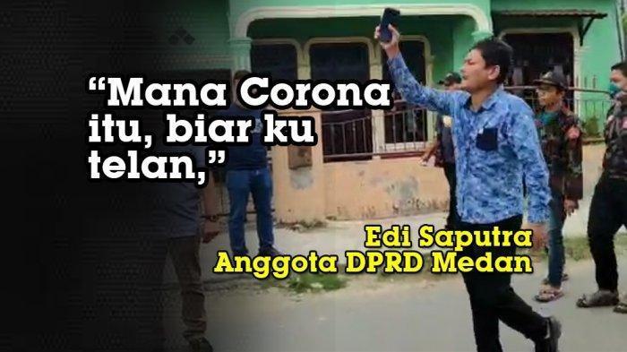 Anggota DPRD Medan Ngamuk Tak Boleh Ikut Salatkan PDP Corona yang Wafat, Tunjuk-tunjuk Wajah Polisi