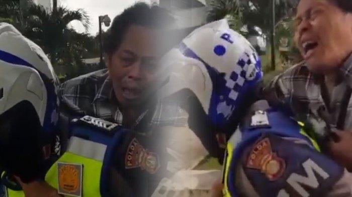 Polisi Gendong Pria Tua di Jakarta yang Kesakitan Kena Serangan Jantung, tapi Banyak yang Nyinyir