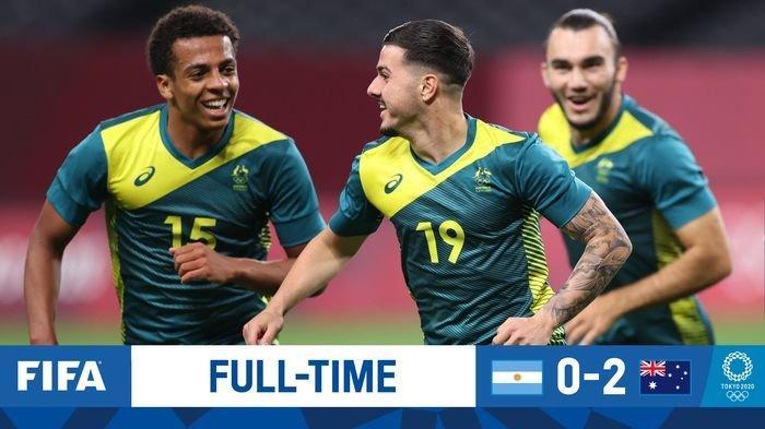Hasil Sepak Bola Olimpiade Tokyo, Argentika Dikalahkan Australia Dengan Skor 0-2