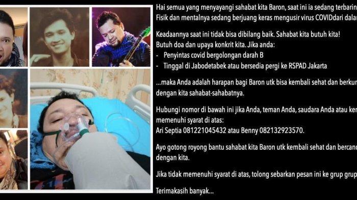 Aria Baron Eks Gitaris Band GIGI Meninggal Dunia di RSPAD, Armand Maulana Tulis Doa Ini untuk Baron
