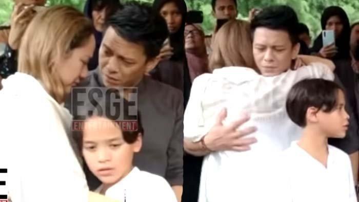 Ariel NOAH Peluk Bunga Citra Lestari di Pemakaman Ashraf Sinclair, Kaget Saat Tahu Suami Unge Wafat