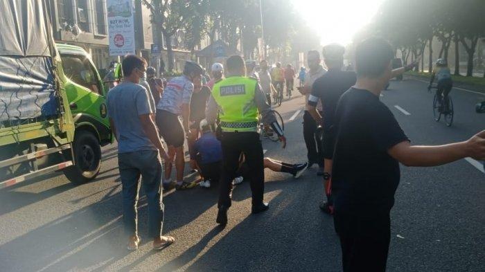 INNALILLAHI Artis Virnie Ismail Kecelakaan Saat Naik Sepeda, Sopir Truk Pembawa Galon Ditahan Polisi