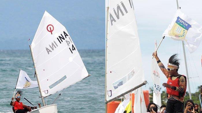 Dua Atlet Layar Papua Aldi dan Aldo Fantastis, Rebut Medali Emas Setelah Berlomba Selama 4 Hari