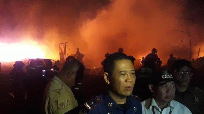 UPDATE Kebakaran! Pengusaha Daur Ulang Plastik Rugi Rp 400 Juta, Pemadam Sulit Peroleh Air