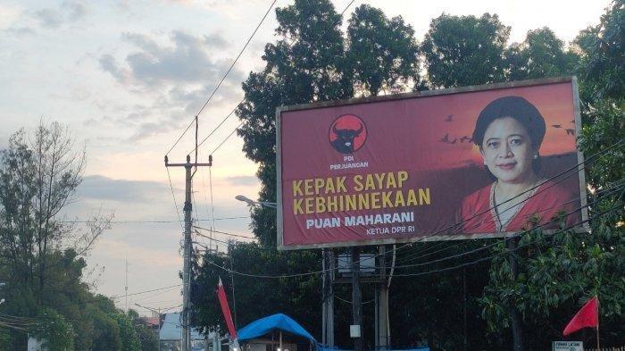 Baliho Puan Maharani dan Airlangga Hartarto Penuhi Jalanan Majalengka, Branding Pilpres 2024