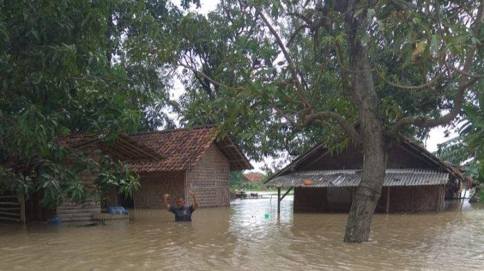 BREAKING NEWS - Tak Ada Hujan, tapi Permukiman Warga di Indramayu Terendam Banjir, Setinggi Dada