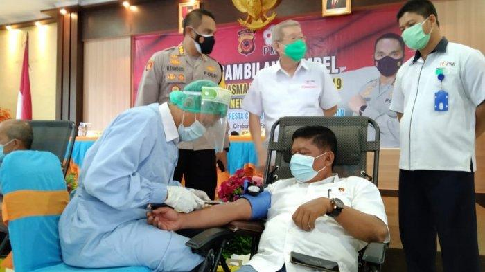 Puluhan Personel Polresta Cirebon Siap Donor Plasma Konvalesen Demi Bantu Pengobatan Pasien Covid-19