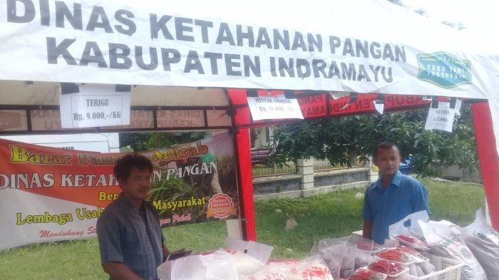 Bazar Murah Dinas Ketahanan Pangan Kabupaten Indramayu, Sehari Jual 1 Ton Beras