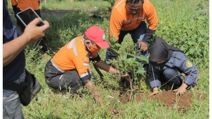 150 Bibit Pohon Ditanam di Lokasi Bekas Longsor, Baznas Majalengka Peduli Lingkungan Lewat BTB