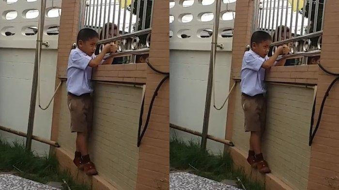 VIDEO VIRAL Bocah SD Terlihat Sedih Lihat Temannya Bermain dengan Ibunya, Ternyata Ini Faktanya