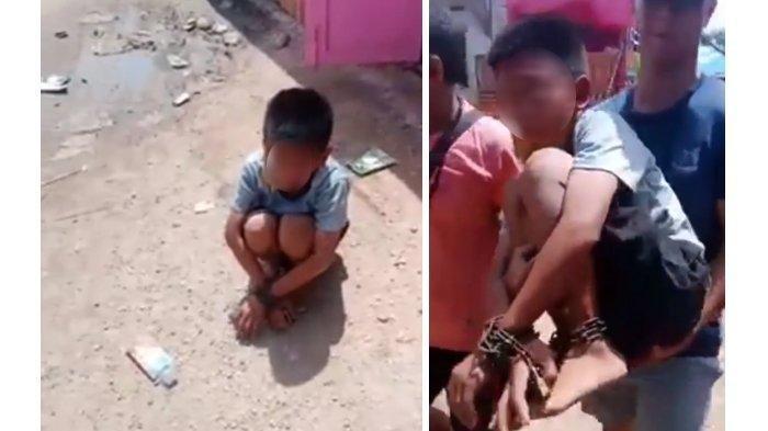 Anak Yatim Piatu Dirantai Tangan dan Kakinya, Mulut Dilakban di dalam Gudang Pasar, Ini Videonya