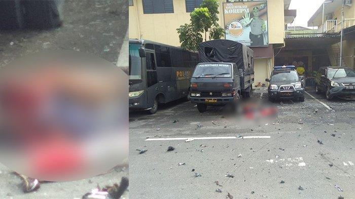Ada Orang Berjaket Ojek Online Masuk Polrestabes Medan Sebelum Terdengar Suara Bom Meledak