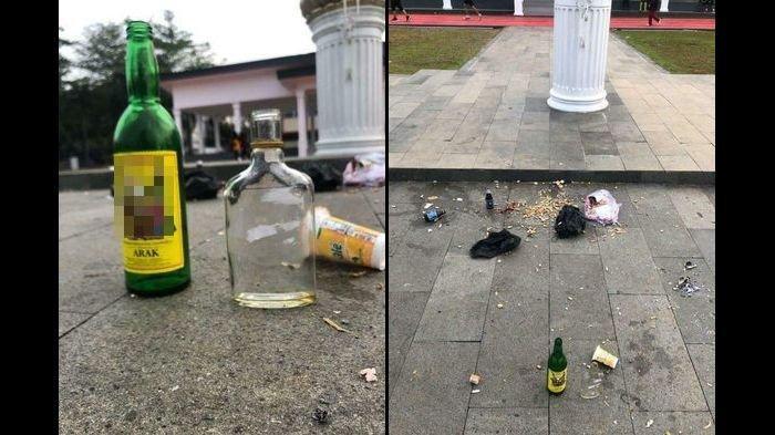 Viral! Botol Miras Ditemukan di GGM Majalengka, Diduga Bekas Pesta Miras di Malam Bulan Puasa