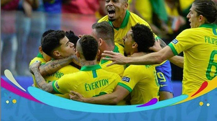 Hasil Copa America 2019 - Brasil Lumat Peru 5-0, Lolos ke Perempat Final