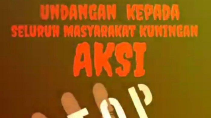 Pamplet seruan aksi Stop PPKM di Kuningan