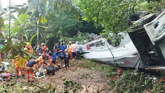 Keterangan Saksi Mata Kecelakaan Maut Bus Masuk Jurang Wado, Situasi Mencekam Korban Bergelimpangan