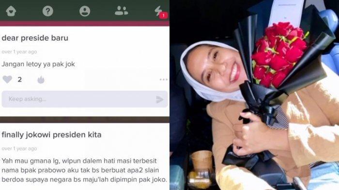 Cuitan Nadya Arifta Soal Pilpres 2019 Jadi Sorotan, Pacar Kaesang Sindir Jokowi dan Pilih Prabowo