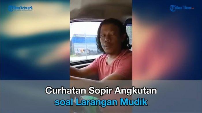 Tangkapan layar sopir travel asal Indramayu yang mencurahkan isi hatinya terkait larangan mudik.