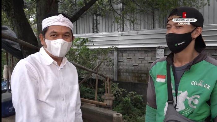Driver Ojol Viral Karena Lepas Pakaiannya untuk ODGJ, Dedi Mulyadi: Seharusnya Aparat yang Melakukan