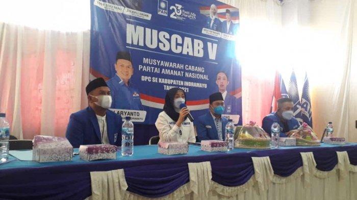 Muscab Ke-V DPD Partai Amanat Nasional (PAN) Kabupaten Indramayu, Minggu (5/9/2021).